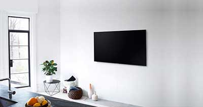 شکل1-نصب تلویزیون روی دیوار