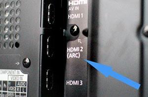شکل4-انواع ورودی تلویزیون -  ARC