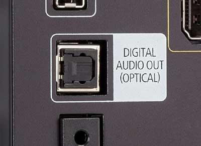 شکل6-انواع ورودی تلویزیون -Optical Audio