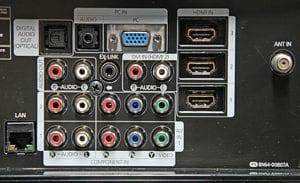 شکل1-انواع ورودی تلویزیون