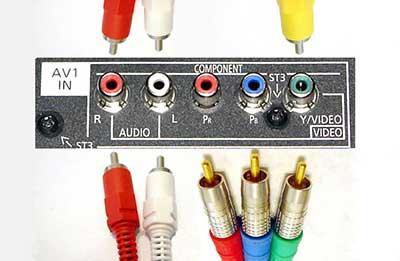 شکل10-انواع ورودی تلویزیون - ورودیهای پورت کامپوننت Component