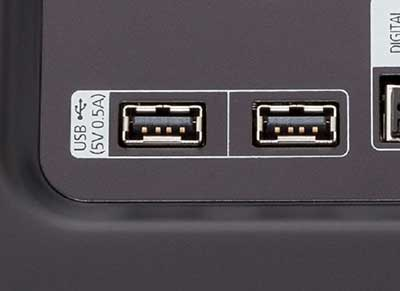 شکل 5-انواع ورودی تلویزیون- پورتهای یواسبی USB