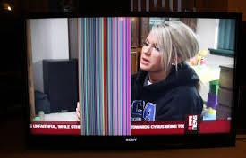 شکل1-آبخوردگی صفحه تلویزیون