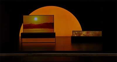 شکل- تلویزیون رول شونده OLED ال جی