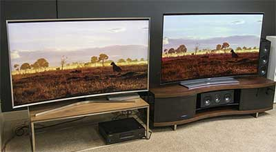 شکل1-تفاوت تلویزیون OLED با LED
