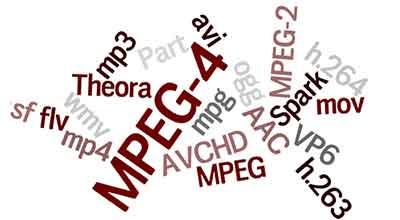 شکل 1 -فرمت های صوتی تصویری تلویزیون